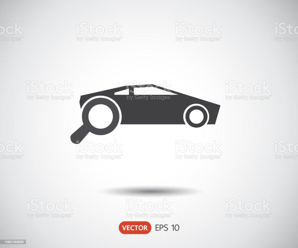 Suche Auto Symbol Eps Set Logo Vektorillustration Stock Vektor Art