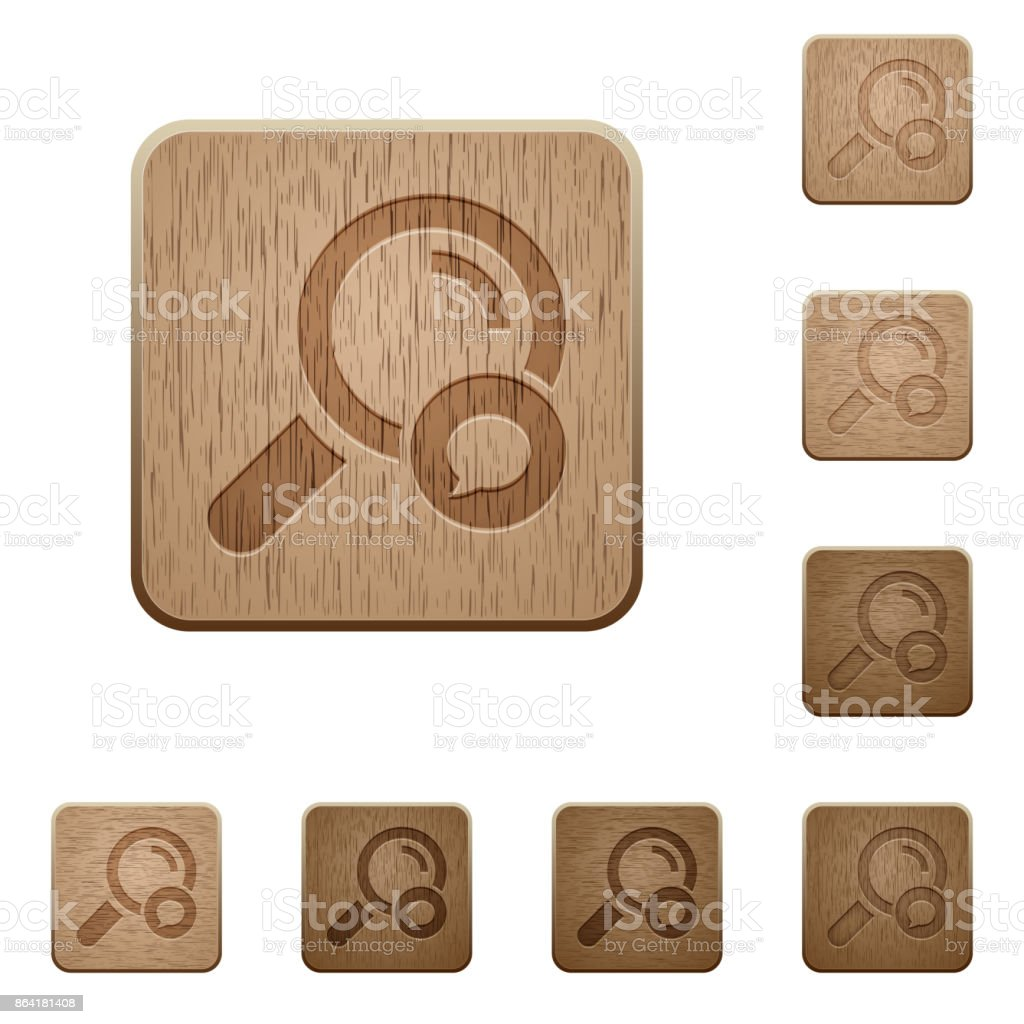 Search comment wooden buttons royalty-free search comment wooden buttons stock vector art & more images of applying