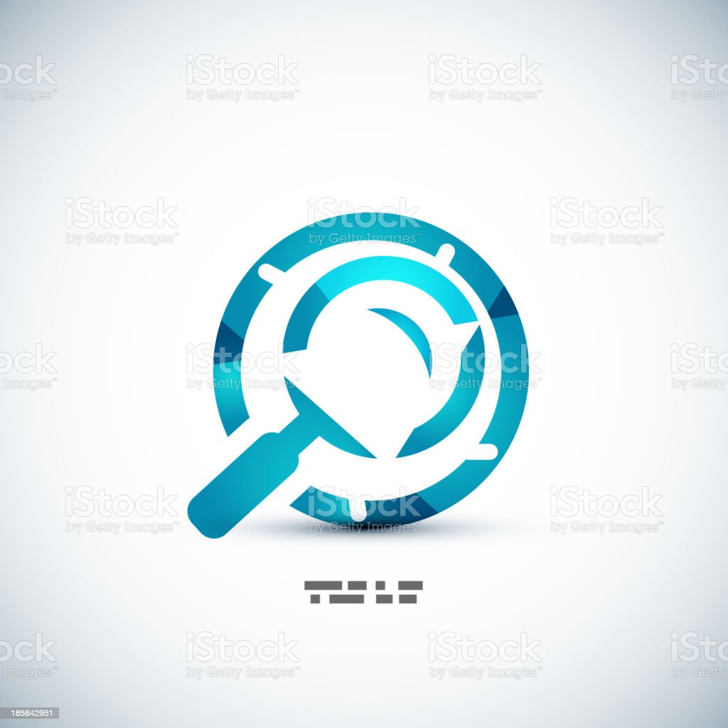 Search concept: magnifying glass icon royalty-free search concept magnifying glass icon stock vector art & more images of backdrop