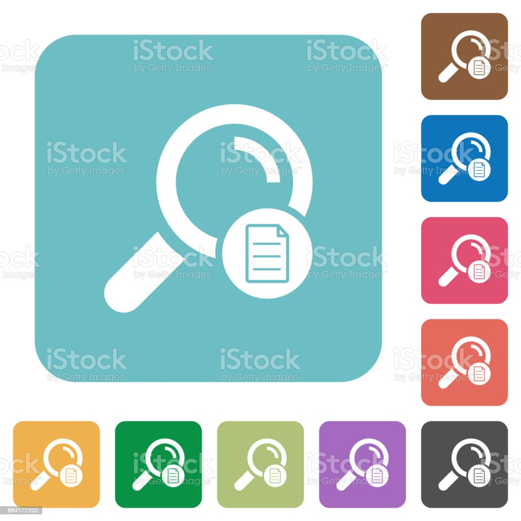 Search details rounded square flat icons royalty-free search details rounded square flat icons stock vector art & more images of applying
