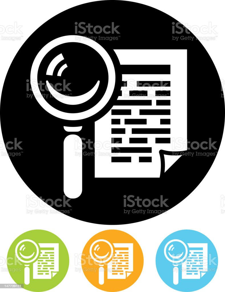 Search document vector icon isolated royalty-free stock vector art