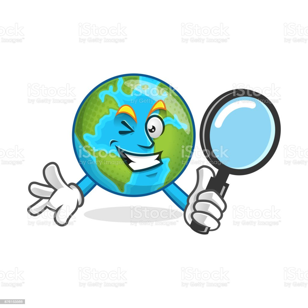 search earth mascot holding magnifying glass earth character earth rh istockphoto com earth vector psd earth vector images free