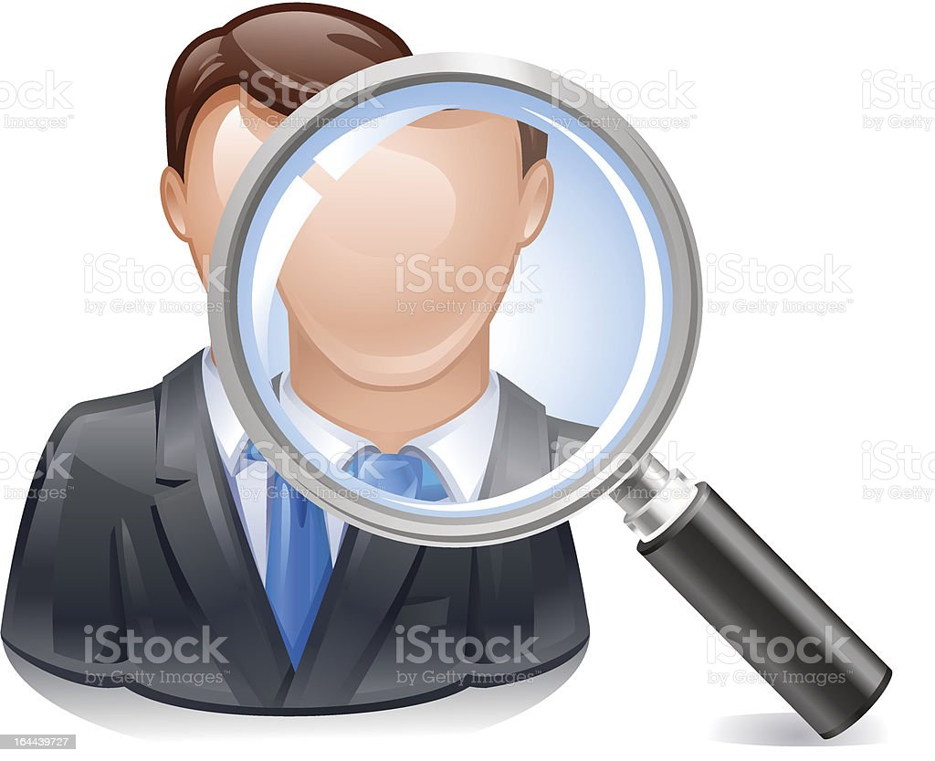 search employee icon royalty-free stock vector art