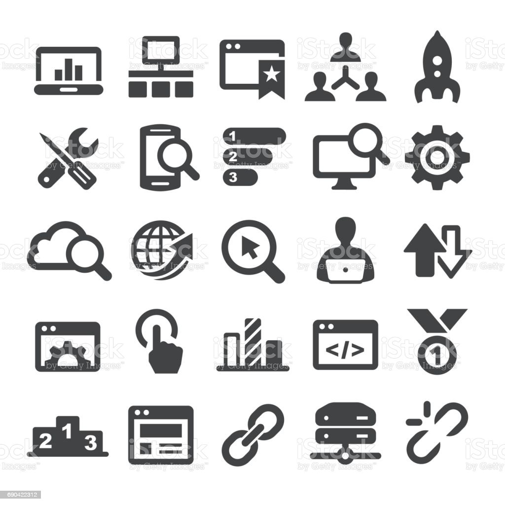Search Engine Icons Smart Series Stock Illustration