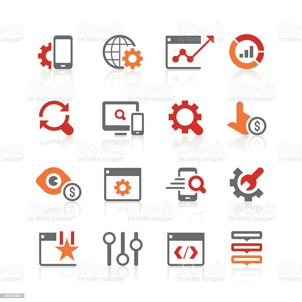 search engine optimisation icons | alto series vector art illustration