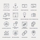 Search Engine Optimization Icon Set - Line Series