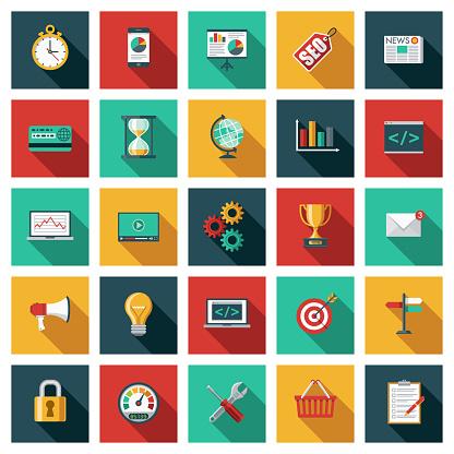 Search Engine Optimization (SEO) Icon Set