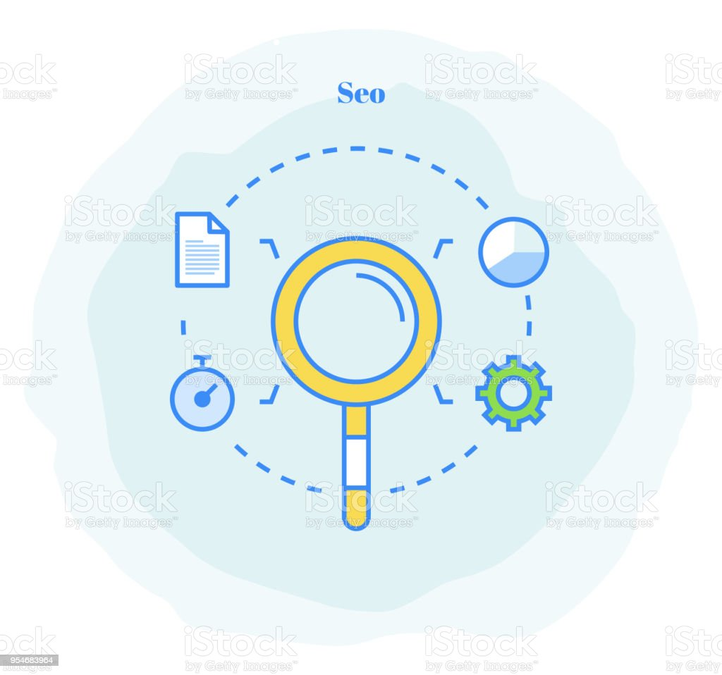 Search Engine Optimization Icon Stock Illustration
