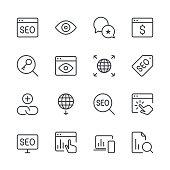 Search Engine Optimization icons set 4 | Black Line series