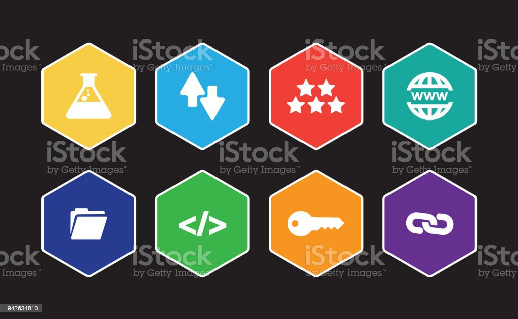 Search Engine Optimization Infographic Icon Set Stock Vector