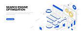 istock Search Engine Optimization Isometric Banner Design 1267211837