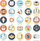 Search engine optimization theme, flat style, colorful, vector i