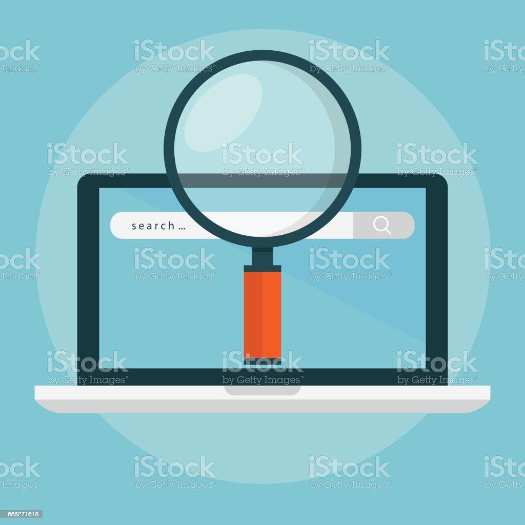 Search engine optimization vector art illustration