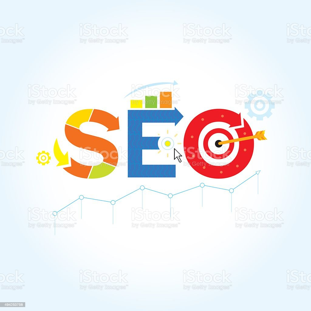 SEO. Search engine optimization ( SEO ) vector illustration concept. vector art illustration