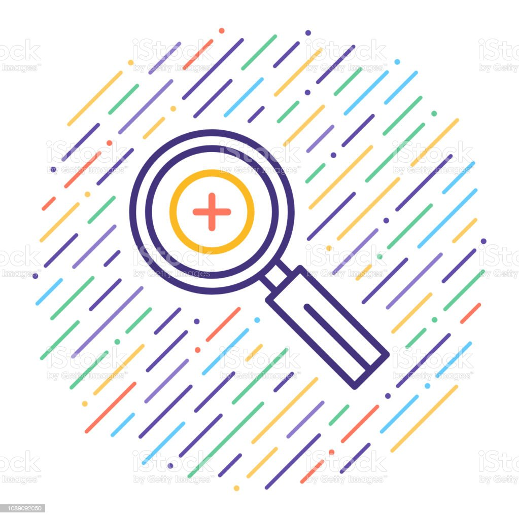 Search Engine Optimization Vector Line Icon Illustration
