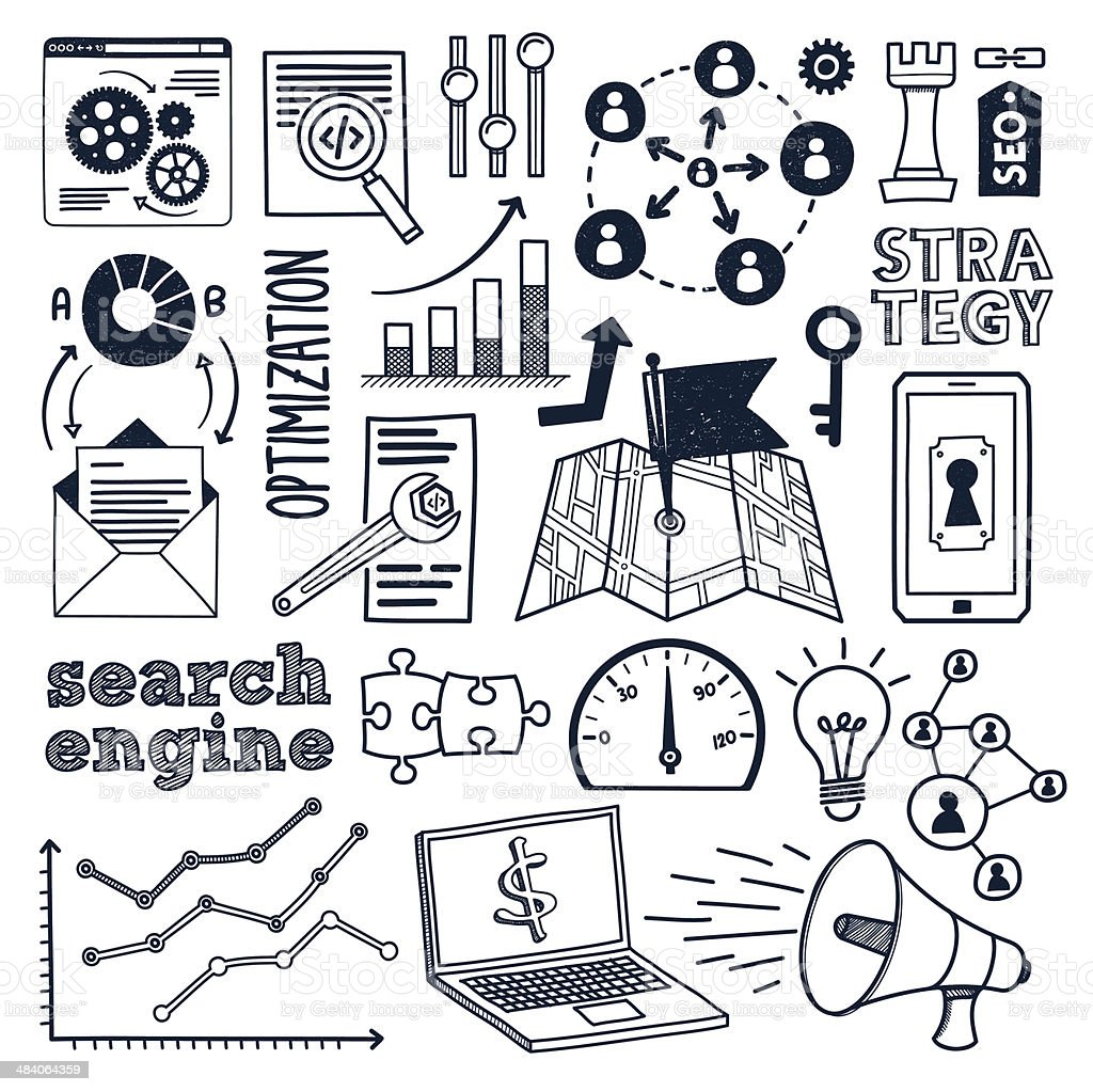 Search Engine Services vector art illustration