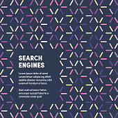 Trendy and artistic design for search engines. Eye catching vector illustration template to boost website, app, presentation or poster design.