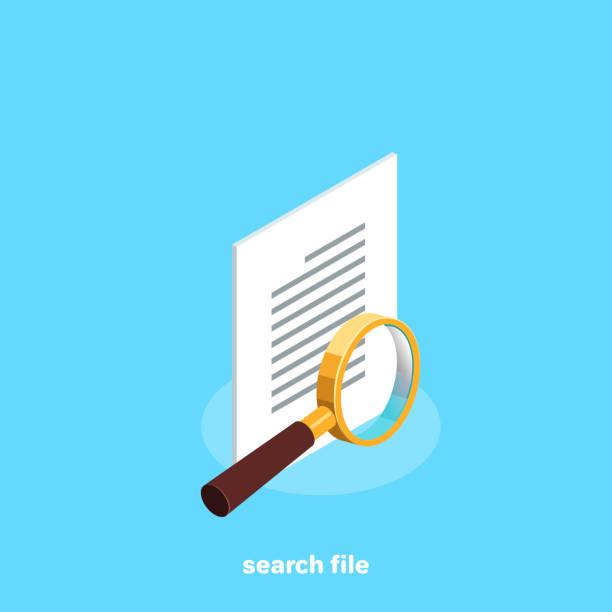 search file vector art illustration