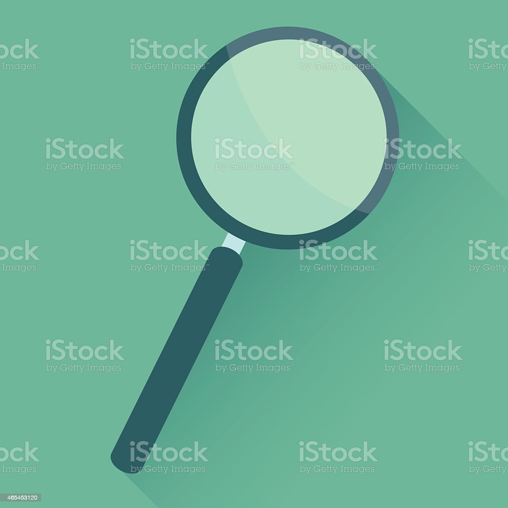 Search Flat Icon vector art illustration