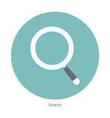 Search flat icon