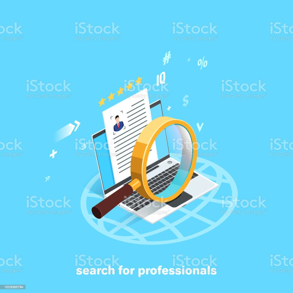 search for professionals vector art illustration