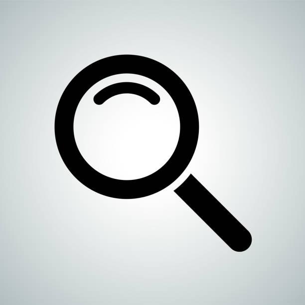 suche-symbol der lupe. vektor-symbol für internet search engine oder web browser design - lupe stock-grafiken, -clipart, -cartoons und -symbole