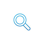 Search icon vector design illustration. Search vector flat icon symbol for website, mobile, logo, graphic elements, app, UI. Search icon isolated on white background.