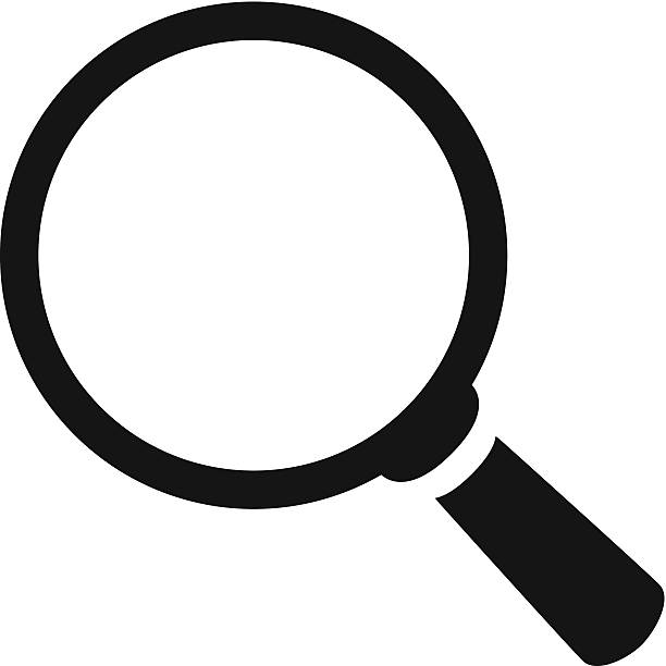 Royalty free magnifying glass clip art vector images search icon vector vector art illustration voltagebd Gallery