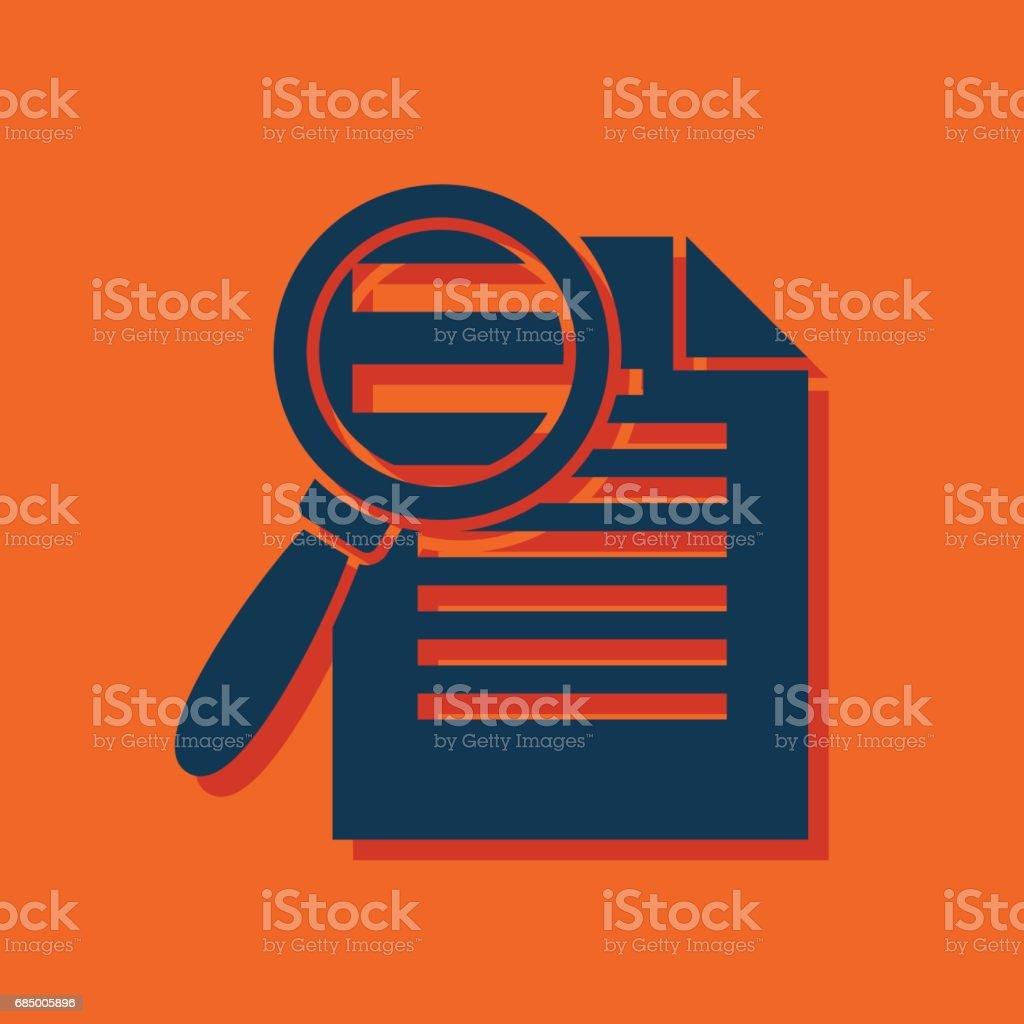 Suche in Dateisymbol. Finden Sie in Dokumentensymbol. Flache Zeichen Vektor Lizenzfreies suche in dateisymbol finden sie in dokumentensymbol flache zeichen vektor stock vektor art und mehr bilder von akte