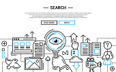 Search - line design website banner temlate