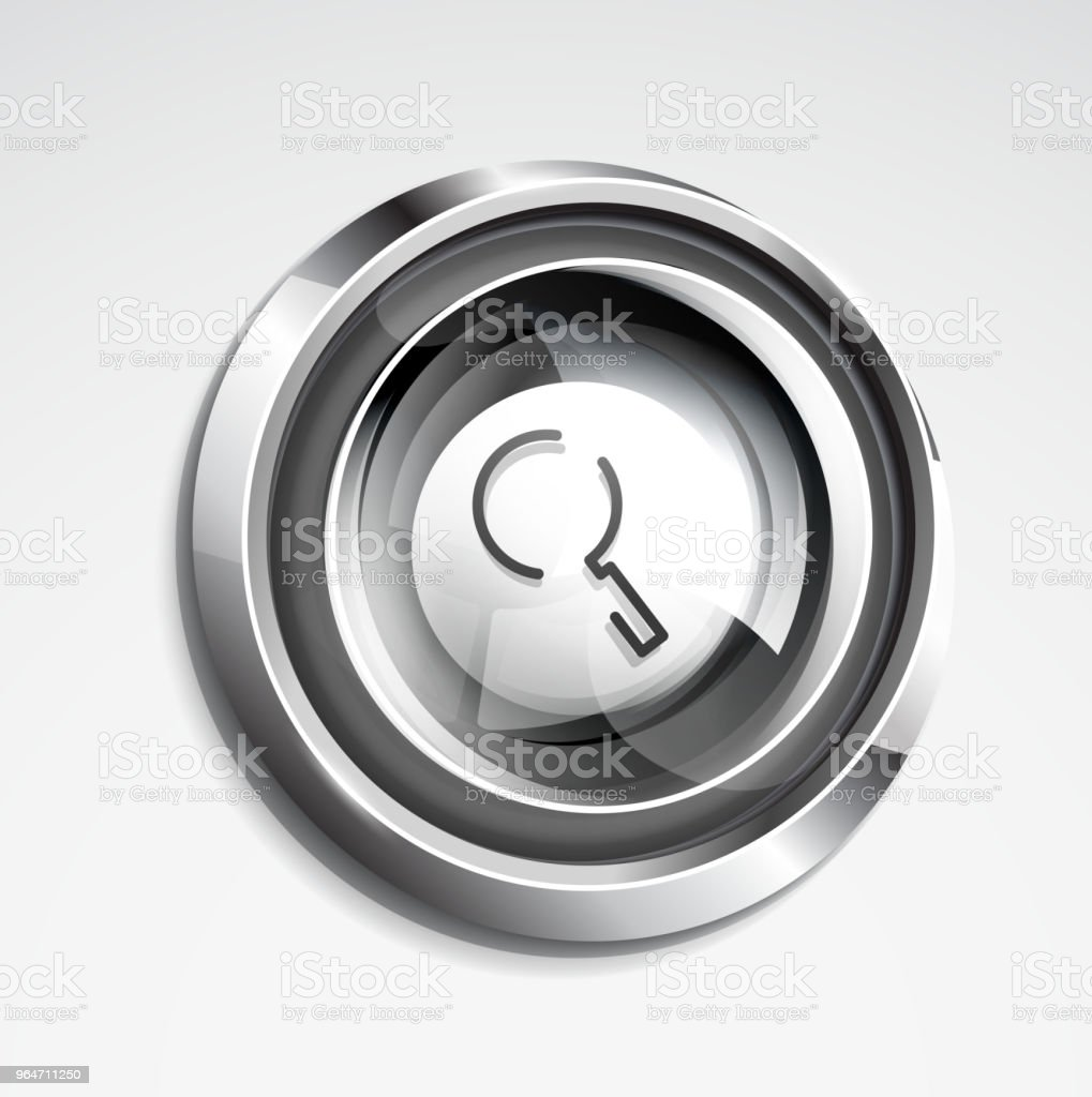 Search magnifyier web button, magnify icon. Modern magnifying glass sign, web site design or mobile app royalty-free search magnifyier web button magnify icon modern magnifying glass sign web site design or mobile app stock illustration - download image now