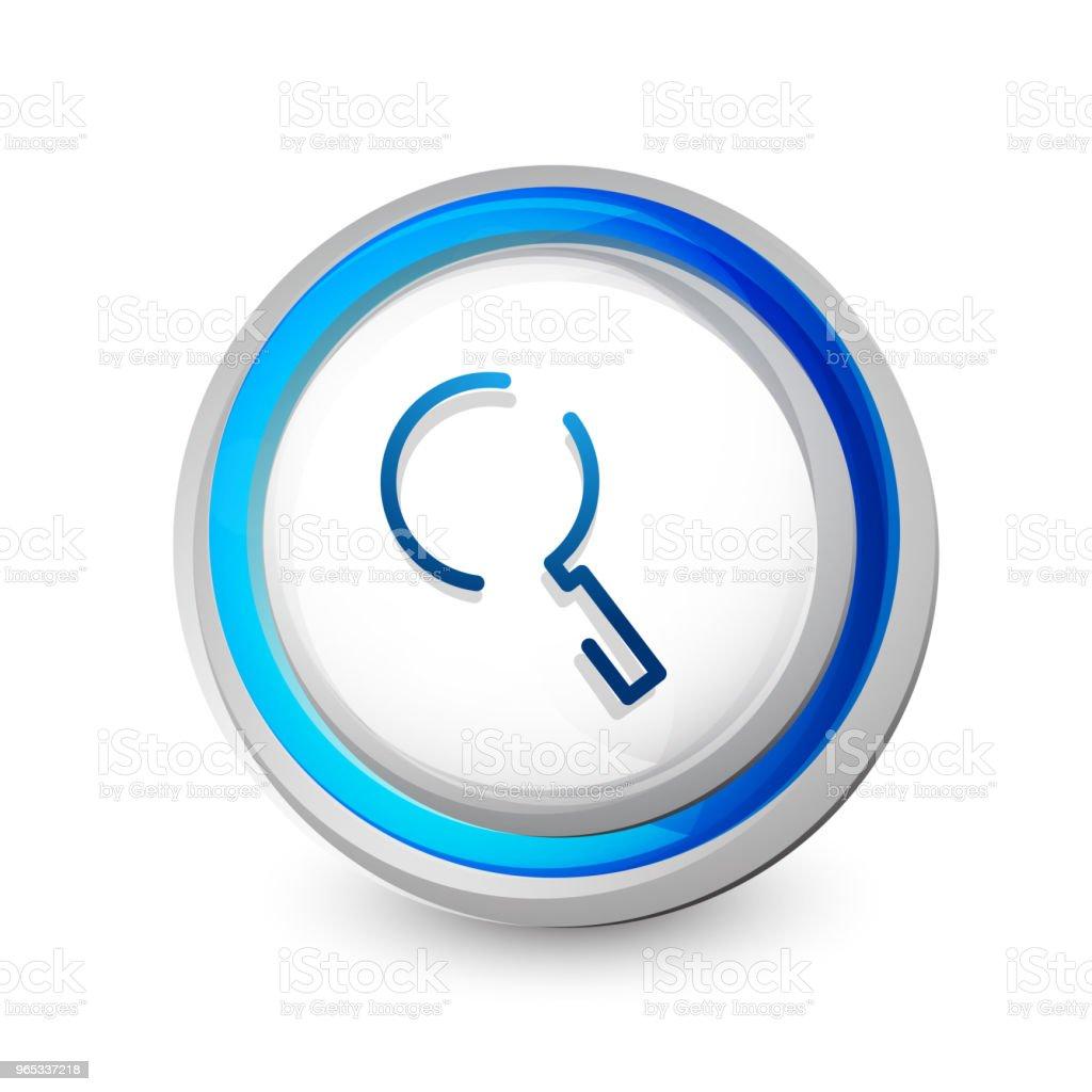 Magnifyier 웹 버튼, 아이콘을 확대. 현대 돋보기 기호, 웹 사이트 디자인 또는 모바일 응용 프로그램 - 로열티 프리 개념 벡터 아트