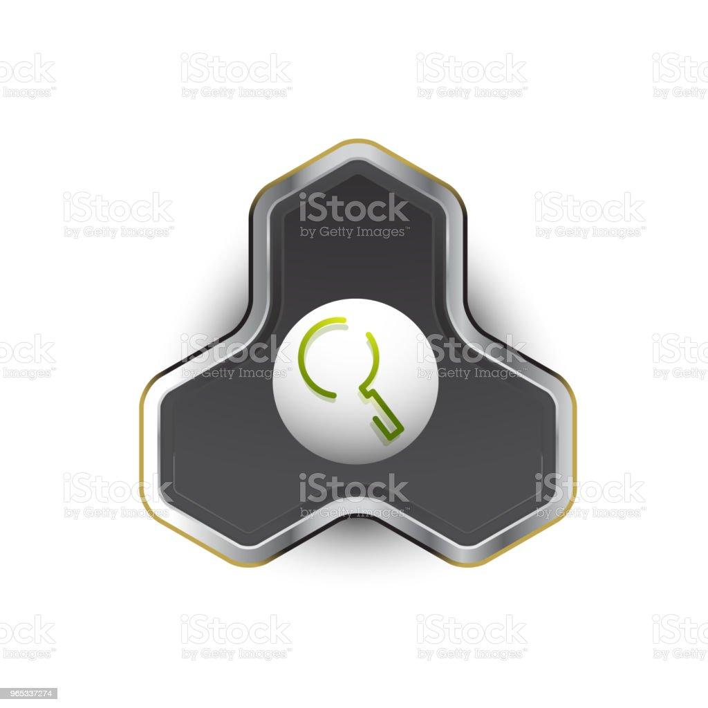 搜索 magnifyier 網頁按鈕, 放大圖示。現代放大鏡標誌, 網站設計或移動應用 - 免版稅一個物體圖庫向量圖形