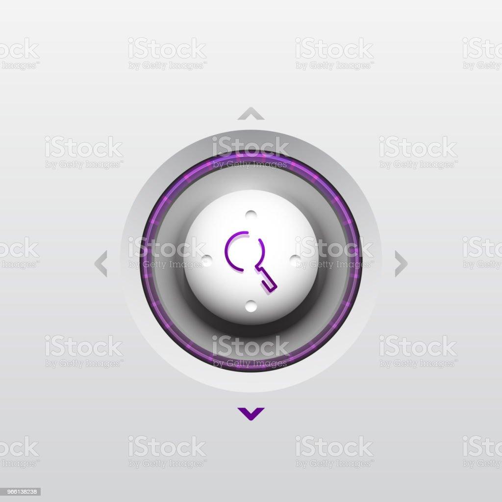 Sök magnifyier web-knappen, förstora ikonen. Modern förstoringsglas skylt, webbdesign eller mobilapp - Royaltyfri Arbetsverktyg vektorgrafik