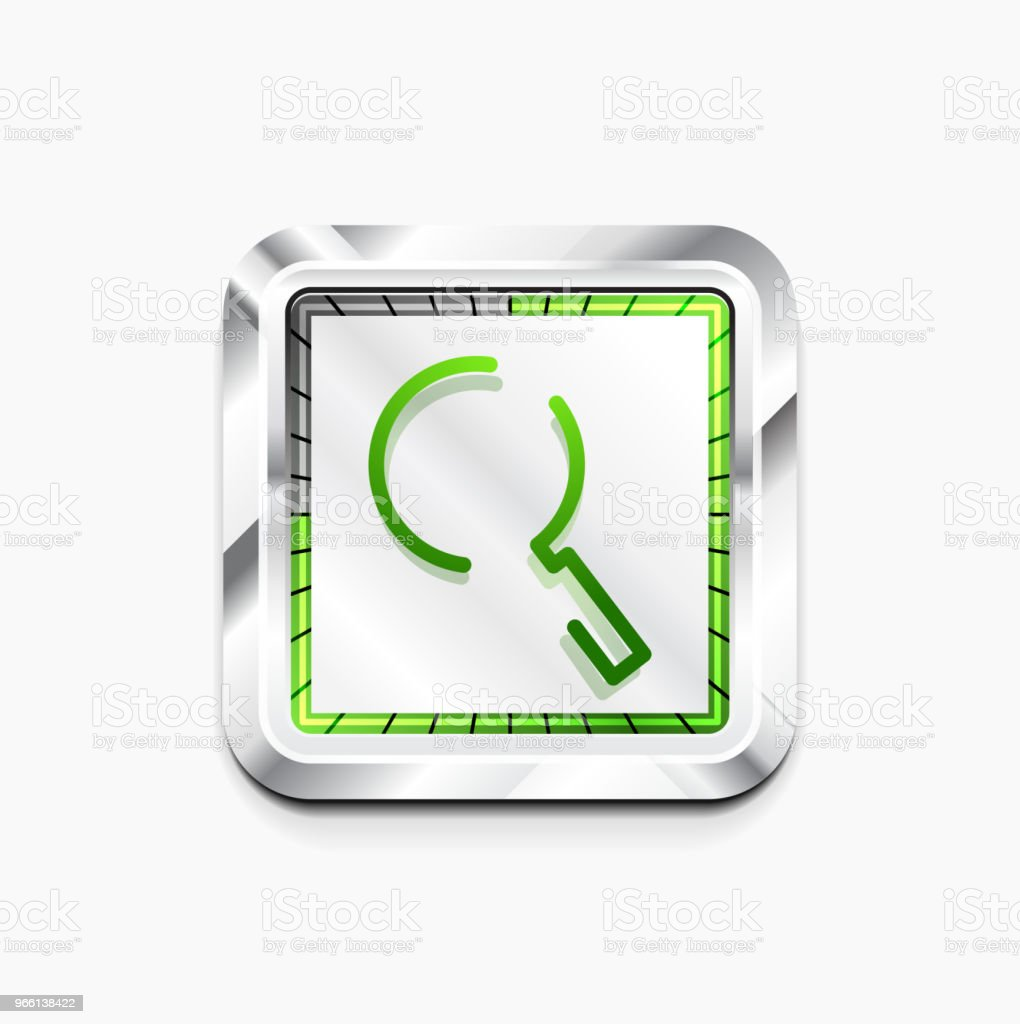 Search magnifyier web button, magnify icon. Modern magnifying glass sign, web site design or mobile app - Векторная графика Векторная графика роялти-фри