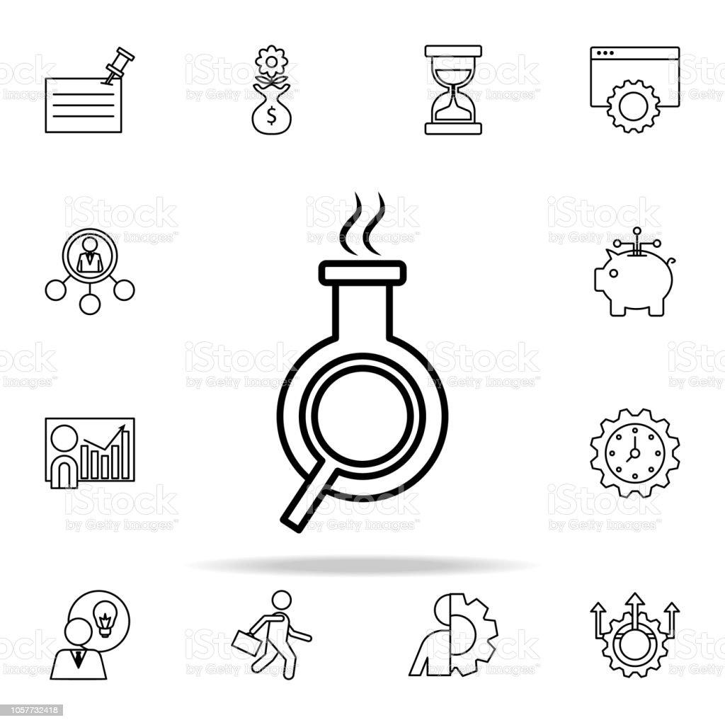 Suche Nach Chemischen Verbindungen Symbol Start Ikonen