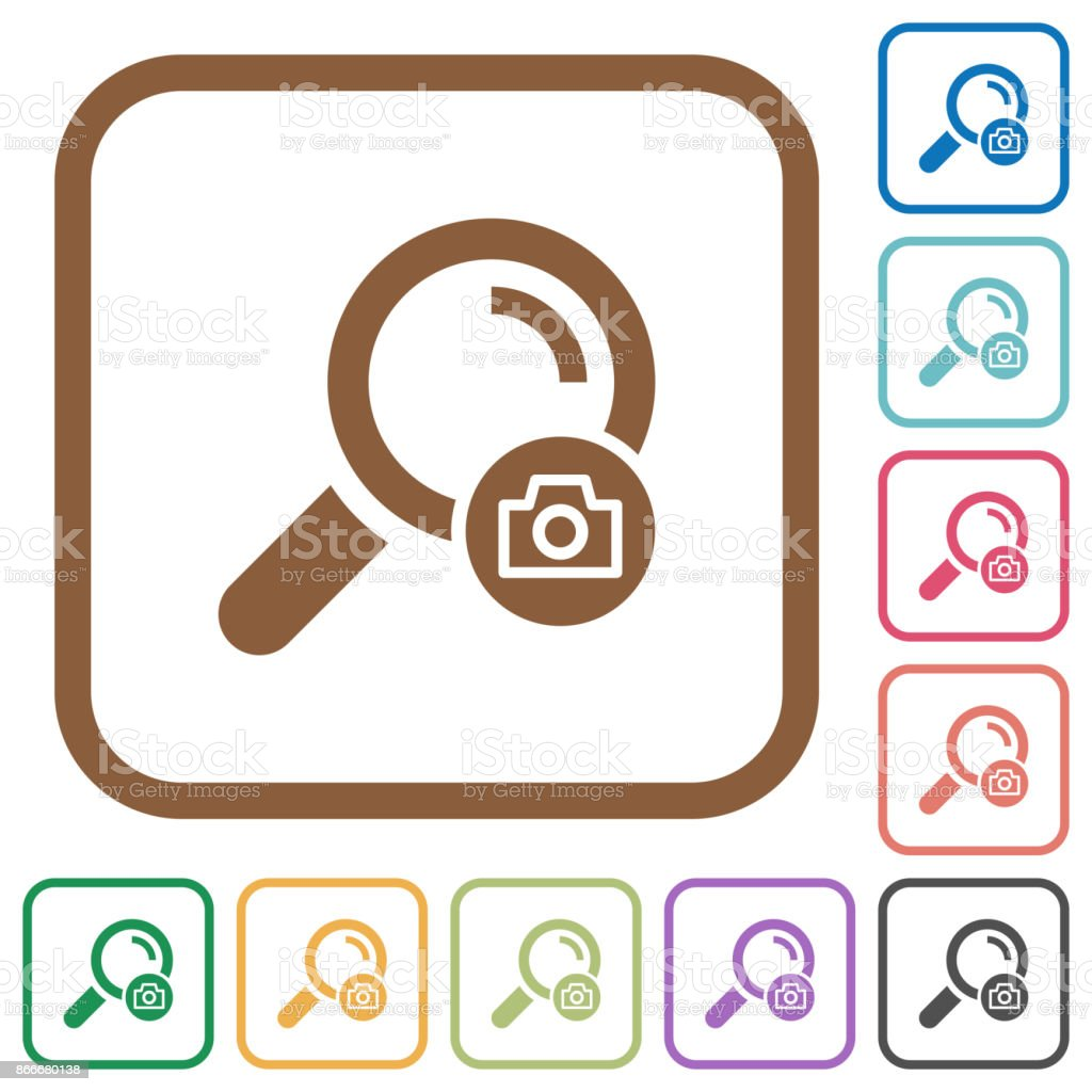 Search photo simple icons vector art illustration