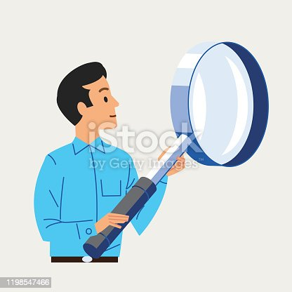 man with large Spy glass