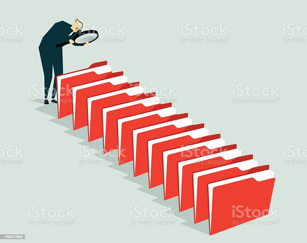 Searching,  Administrator, File-Illustration vector art illustration