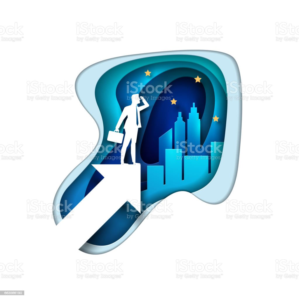 Searching Business Opportunities Concept Illustration vector art illustration