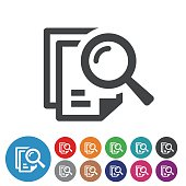 Searching Documents Icons - Graphic Icon Series