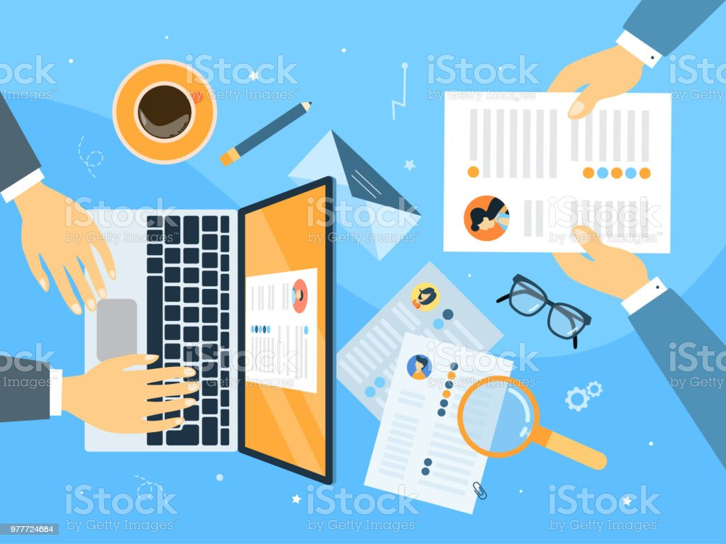 Searching for a candidiate . royalty-free searching for a candidiate stock illustration - download image now