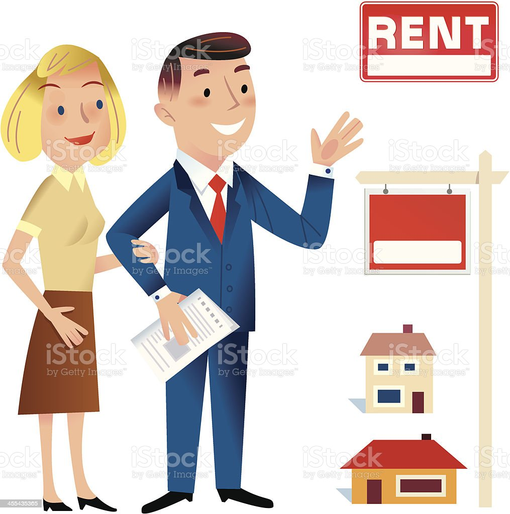 Searching for a home royalty-free stock vector art