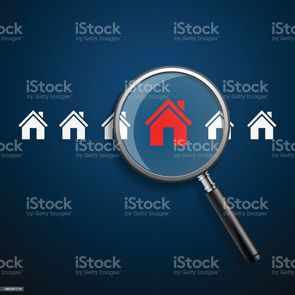Searching for house of home.vector vector art illustration