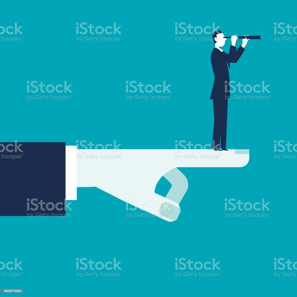 Searching for opportunities vector art illustration