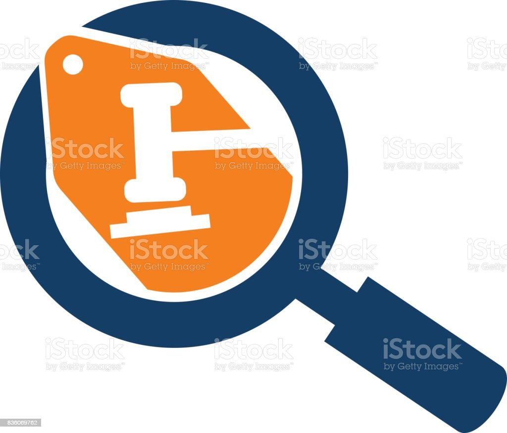 Searching Local Bid vector art illustration