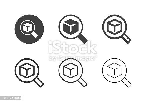 istock Searching Product Icons - Multi Series 1317753633