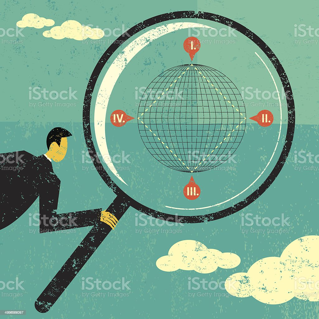 Searching The Four Corners Of Earth Stock Vector Art More Images