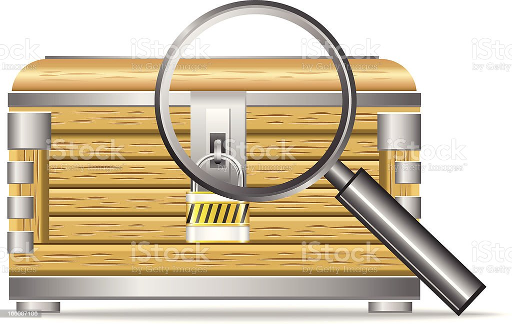 Searching treasure royalty-free stock vector art