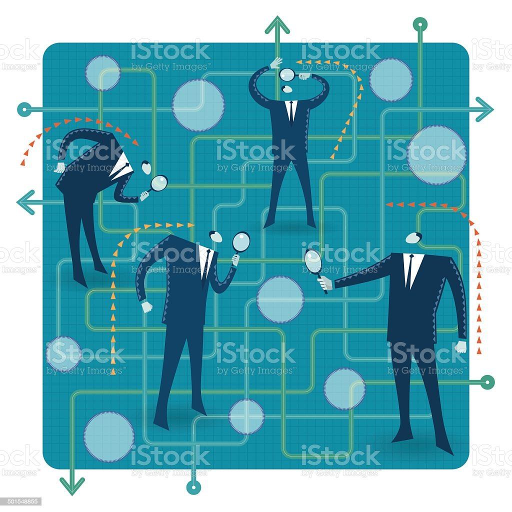 Searching royalty-free searching stock vector art & more images of achievement